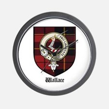 Wallace Clan Crest Tartan Wall Clock