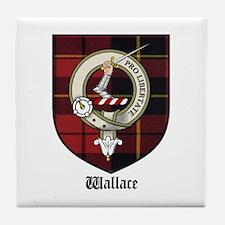Wallace Clan Crest Tartan Tile Coaster