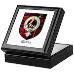 Wallace Clan Crest Tartan Keepsake Box