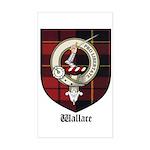 Wallace Clan Crest Tartan Rectangle Sticker