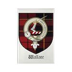 Wallace Clan Crest Tartan Rectangle Magnet (10 pac