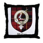 Wallace Clan Crest Tartan Throw Pillow