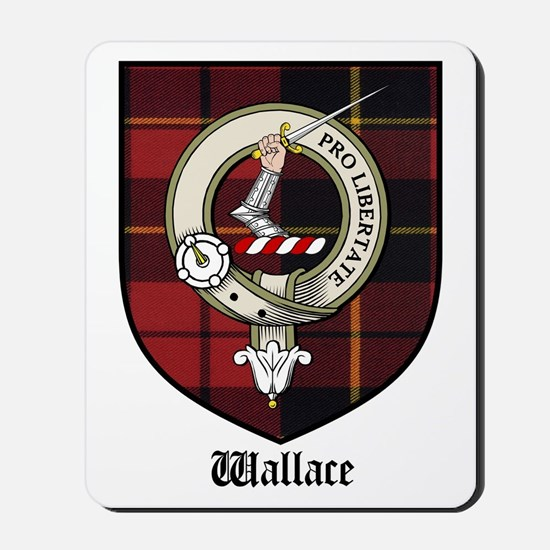 Wallace Clan Crest Tartan Mousepad