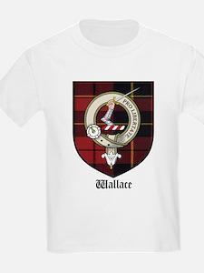Wallace Clan Crest Tartan Kids T-Shirt