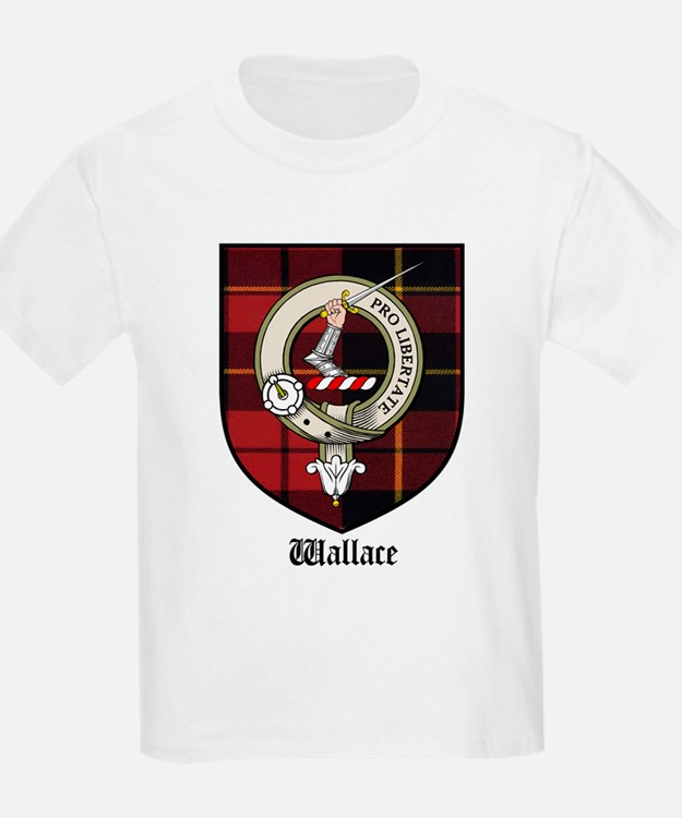 Wallace Clan Crest Tartan Kids T-Shirt