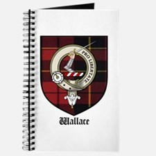 Wallace Clan Crest Tartan Journal