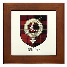 Wallace Clan Crest Tartan Framed Tile