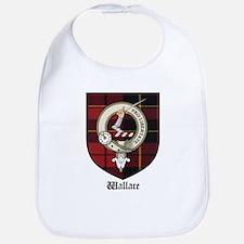 Wallace Clan Crest Tartan Bib