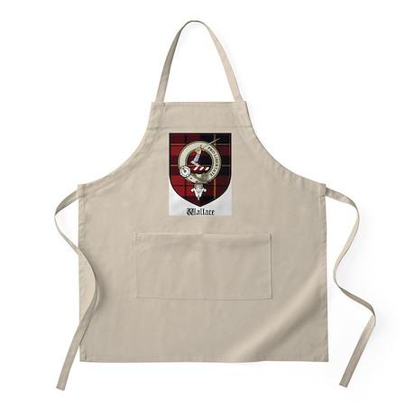 Wallace Clan Crest Tartan BBQ Apron