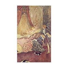 Dulac's Sleeping Beauty Rectangle Decal