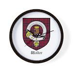 Walker Clan Crest Tartan Wall Clock