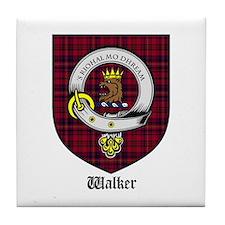 Walker Clan Crest Tartan Tile Coaster