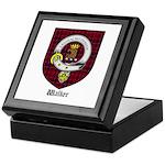 Walker Clan Crest Tartan Keepsake Box
