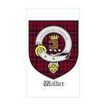 Walker Clan Crest Tartan Rectangle Sticker