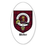 Walker Clan Crest Tartan Oval Sticker