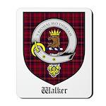 Walker Clan Crest Tartan Mousepad