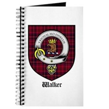 Walker Clan Crest Tartan Journal