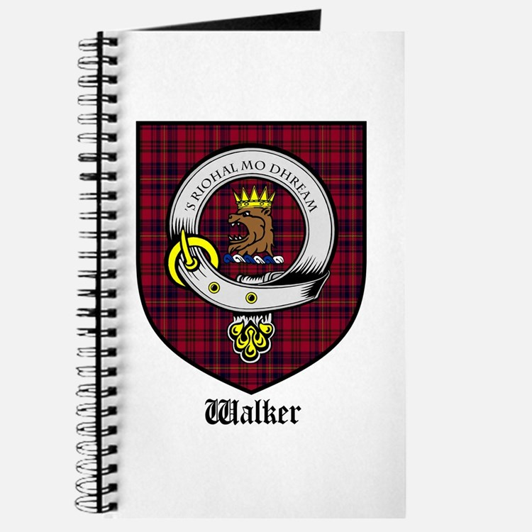 Walker Clan Crest Tartan Journal