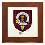 Walker Clan Crest Tartan Framed Tile