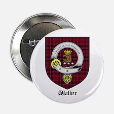 """Walker Clan Crest Tartan 2.25"""" Button (10 pack)"""