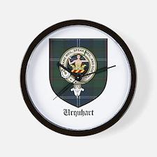 Urquhart Clan Crest Tartan Wall Clock