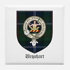 Urquhart Clan Crest Tartan Tile Coaster