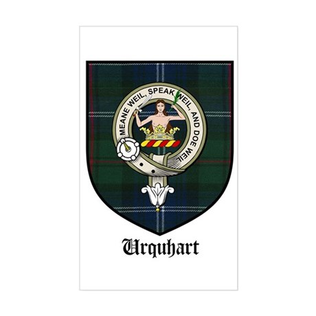 Urquhart Clan Crest Tartan Rectangle Sticker