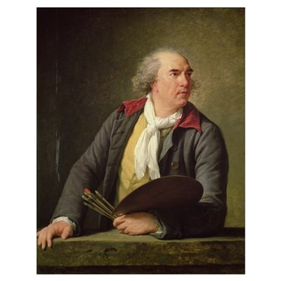Portrait of Hubert Robert (1733-1808) 1788 (oil on Poster