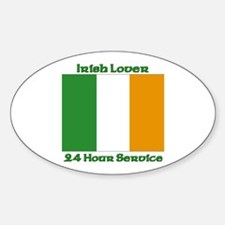 Irish Lover 24 Hour Service Oval Decal