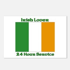 Irish Lover 24 Hour Service Postcards (Package of