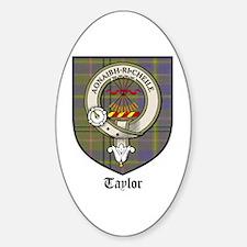 Taylor Clan Crest Tartan Oval Decal