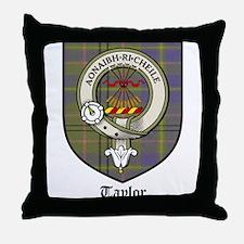 Taylor Clan Crest Tartan Throw Pillow
