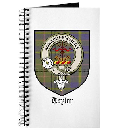 Taylor Clan Crest Tartan Journal