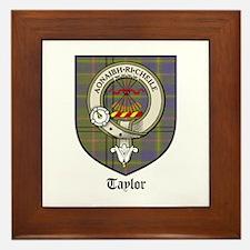 Taylor Clan Crest Tartan Framed Tile