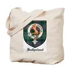 Sutherland Clan Crest Tartan Tote Bag