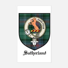 Sutherland Clan Crest Tartan Rectangle Decal