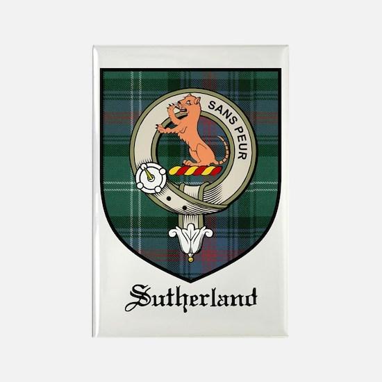 Sutherland Clan Crest Tartan Rectangle Magnet (10