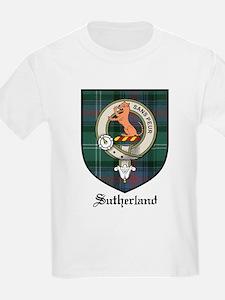 Sutherland Clan Crest Tartan Kids T-Shirt