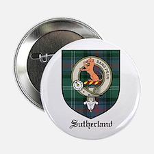 """Sutherland Clan Crest Tartan 2.25"""" Button (10 pack"""