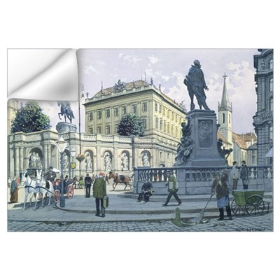 The Albertina, Vienna (w/c on paper) Wall Decal