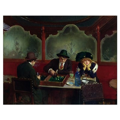 The Backgammon Players (oil on panel) Poster