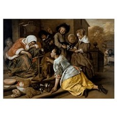 The Effects of Intemperance, c.1663-65 (oil on pan Poster