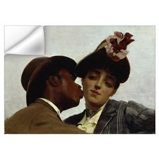 The Kiss, 1887 (oil on canvas) Wall Decal