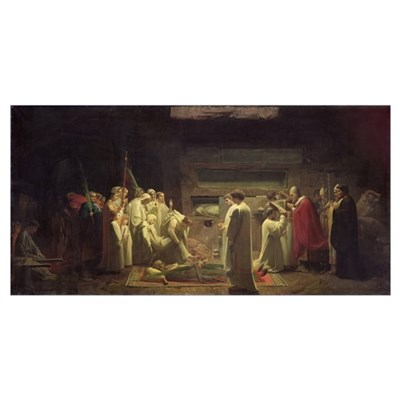 The Martyrs in the Catacombs, 1855 (oil on canvas) Poster