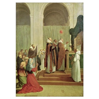 The Mass of St. Martin of Tours, 1654 (oil on canv Poster