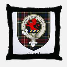 Stuart Clan Crest Tartan Throw Pillow