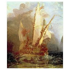 Ulysses Deriding Polyphemus, detail of ship, 1829  Poster