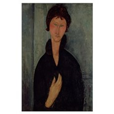 Woman with Blue Eyes, c.1918 (oil on canvas) Poster