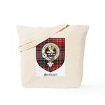 Stewart Clan Crest Tartan Tote Bag