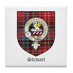 Stewart Clan Crest Tartan Tile Coaster